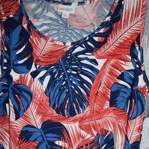 Lularoe Perfect Tank Red White Blue Tropical New M